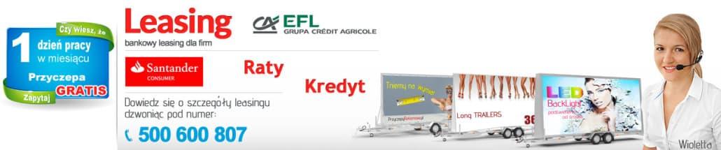 Leasing przyczep reklamowych - Przyczepy.KMPolska.pl