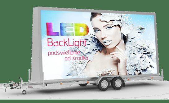 Przyczepa reklamowa Backlight